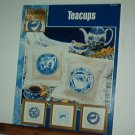 Cross Stitch Patterns, Flow Blue Teacups, three designs