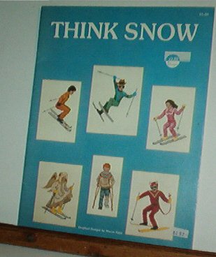 Cross Stitch Pattern, Skiing, Skiers, THINK SNOW, 12 designs