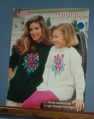 Knitting Pattern Brunswick, Pastimes Vol 924 Family sweaters, 6 designs Free Shipping