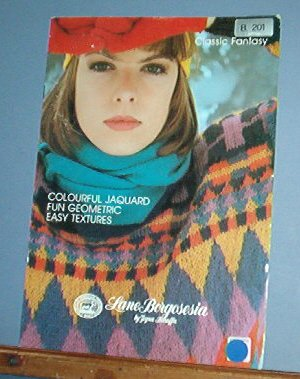 Knitting Pattern Lane Borgosesia 201 Designer women's sweaters, Italy