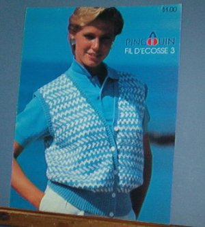 Knitting Pattern Pingouin vests and sweater for women free shipping