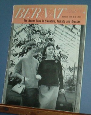 Vintage Knitting Patterns, Bernat  #66 1958 Sweaters, Jacket and dresses