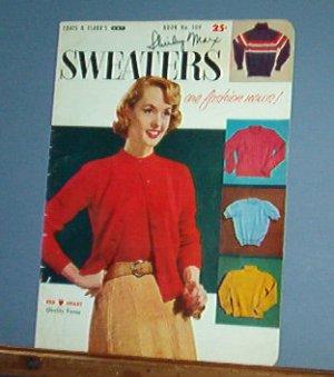 Vintage Knitting Patterns, Coats & Clark 509, 1955 Teen and Children, 16 designs