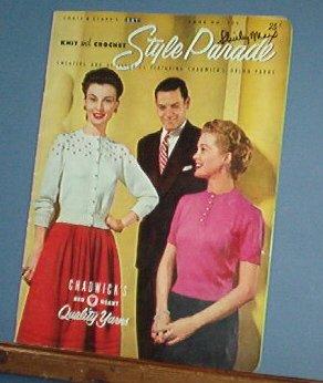 Vintage Knitting Pattern, Coats & Clark 506, 1954 20 designs for men women & accessories
