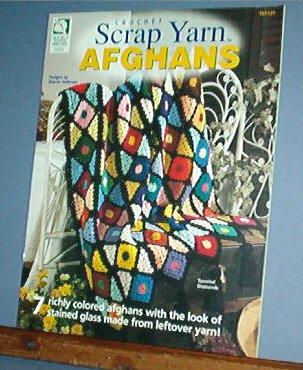 Crochet Pattern SCRAP AFGHANS 7 Designs, easy