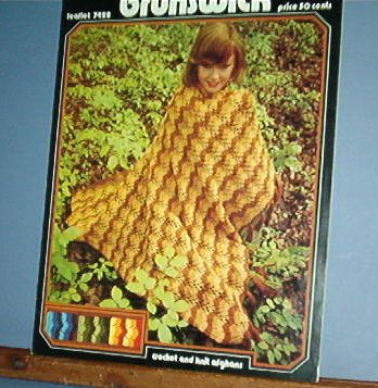 Two Crochet Patterns for AFGHANS Boiler Bay knit and Apple Pie crochet