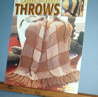Quick Knit Throws, AFGHANS, 4 designs, easy