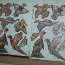 Scrapbooking - Stickers - New  2 sheet - 8 Game Birds