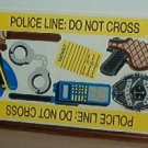 Scrapbooking - Stickers - 1 sheet  Police gear Cop stuff New