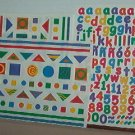 Scrapbooking - Stickers - 3 sheets Alphabet & geometrics Creative Memories New