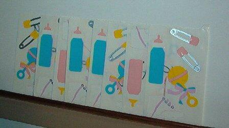 Scrapbooking - Stickers - 8 sheets  Baby stuff rattle bottle shoe. New