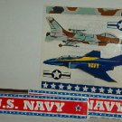 Scrapbooking - Stickers - 1 sheet  U.S. Navy air planes and signs