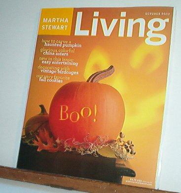 Magazine - Martha Stewart Living - Free Shipping - No. 107  October 2002