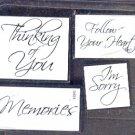 "Rubber Stamp - Scrapbooking - Inkadinkado -  sponge mount - New - 4 ea - 1""X1"" - 1.5""X2"""