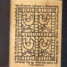 """Rubber Stamp - Scrapbooking  Wood Mount New Stampin Up - Birds Quilt with phrase - 3 X 4 """""""