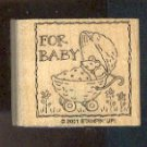Rubber Stamp - Scrapbooking - Wood Mount  - New -  Stampin Up  - For Baby  &  Mouse 1.75 X 1.75""