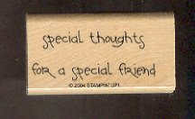 Rubber Stamp Scrapbooking Wood Mounted New Stampin Up - Special thoughts  1.25 X 2