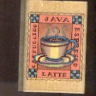 """Rubber Stamp Scrapbooking Wood Mounted New Hero Arts Coffee Cup 1 X 2"""""""