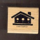 Rubber Stamp Scrapbooking - Wood Mount - New - Stampin Up - Bird House 2.0 X 2.0""