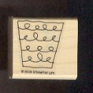 Rubber Stamp Scrapbooking - Wood Mount - New - Stampin Up -  Basket 1.5X 1.5""