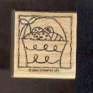 Rubber Stamp Scrapbooking - Wood Mount - New - Stampin Up - Basket Easter Eggs - 1.5X1.5""