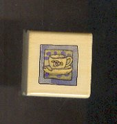 Rubber Stamp Scrapbooking - Wood Mount - Boyds Stamps - New - Tea Cup - 1 X 1""