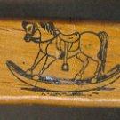 "Rubber Stamp Scrapbooking - Wood Mount - Vintage - Rocking Horse 2 X 1.5"""