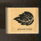 Rubber Stamp Scrapbooking - Wood Mount -  Stampin Up - Leaf 1X1.25""