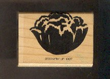 Rubber Stamp Scrapbooking - Wood Mount - New - Stampin Up - Peony bloom - 1.25X2""