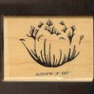 Rubber Stamp Scrapbooking - Wood Mount - New - Stampin Up - Peony Blossom 1.25X 2""