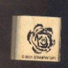 Rubber Stamp Scrapbooking - Wood Mount -  Stampin Up - Flower 1X1""