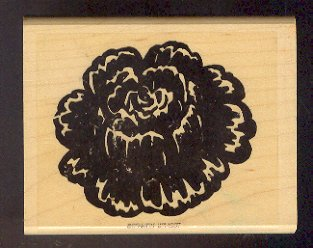 """Rubber Stamp Scrapbooking - Wood Mount - New - Stampin Up - Flower 3 X 4"""""""