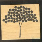 Rubber Stamp Scrapbooking - Wood Mount -  New - Memory Box  - Tree of Stars 3X 2.5""