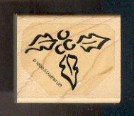 """Rubber Stamp Scrapbooking - Wood Mount - New - Stampin Up - Holly  1.5 X 1.5"""""""