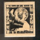 Rubber Stamp Scrapbooking - Wood Mount - New - Stampington - Victorian Angel 2.25X2.5""