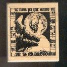 "Rubber Stamp Scrapbooking - Wood Mount - New - Stampington - Victorian Angel 2.25X2.5"""