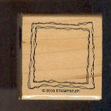 Rubber Stamp Scrapbooking - Wood Mount - Unused - Stampin Up  - Frame - 1.5X1.5""