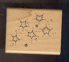 Rubber Stamp Scrapbooking - Wood Mount - D.O.T.S. - Used Stars and Stardust 2.X.2""