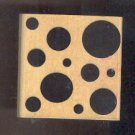 """Rubber Stamp Scrapbooking - Wood Mount - Used - A Muse - Big Dots 2.25X2.25"""""""