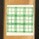 Rubber Stamp Scrapbooking - Wood Mount - Used - Windowpane Plaid 2X2""