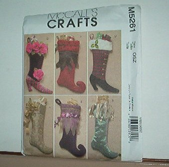 "Sewing Pattern McCall's M5261 Six fancy stockings for Christmas 21"" Long Neat"