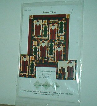 """Sewing Pattern Colorado Quilt Designs Santa Time 62 X 78"""" Quilt & Wall Hangings"""