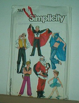 Sewing Pattern Simplicity 7651 Costumes 6 kinds, small adult 32-34