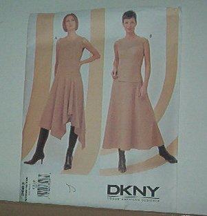 Sewing Pattern  Vogue 2683 DKNY dress with handkerchief hem, skirt & top Size 6-10