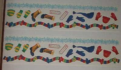 Scrapbooking - Stickers - 3 Strips winter gear 12 X 3""