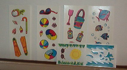 Scrapbooking - Stickers Strips  - 2 X 6 Summer Time -