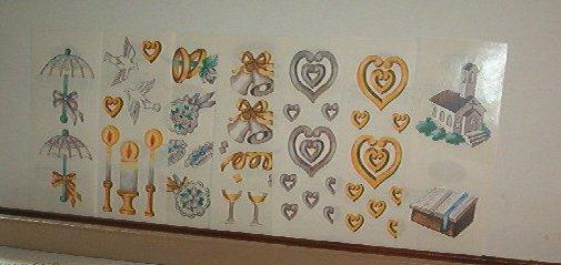 Scrapbooking - Stickers - Wedding - 2 X 6 strips - New