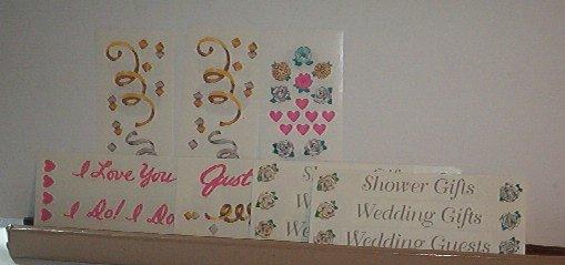 "Scrapbooking - Stickers - Wedding - New - 2 X 6"""