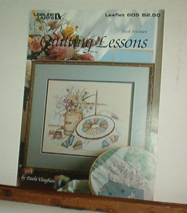 Cross Stitch Pattern QUILTING LESSONS Hooped applique with flowers