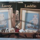 Cross Stitch Pattern Set of Two LACEY  and LADDIE Two children with geese Very Sweet